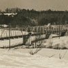 Yadkin River bridge with snow.