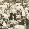 A tobacco auction in a tobacco warehouse.  This is also called the tobacco market.
