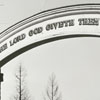One of the gates in God's Acre in Salem.