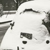 Car covered with snow in Salem, 1938.