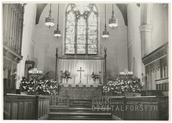 Interior of St. Paul's Episcopal Church, 1937.