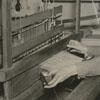 Unidentified woman weaving, 1938.