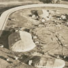 Aerial showing the circus at the fairgrounds, 1938.