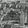 Aerial view of downtown, looking east, 1965.