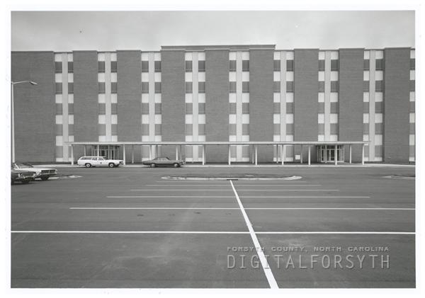 Reynolds Memorial Hospital, located at 1101 E. Seventh Street, 1969.