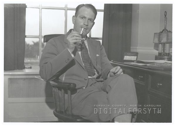 Gordon Gray in the Twin City Sentinel newspaper office, 1938.