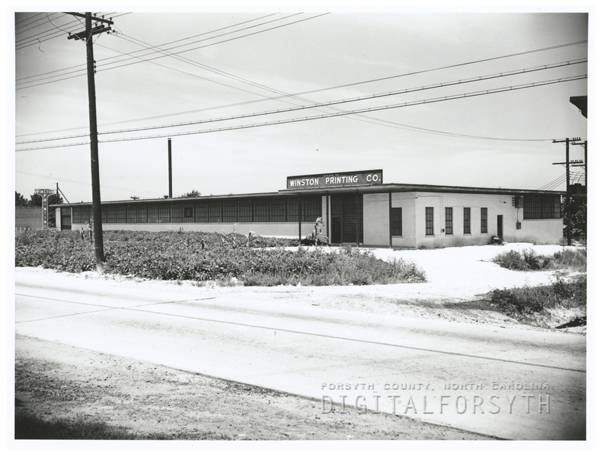 Winston Printing Company in its new location on North Patterson Avenue, 1942.