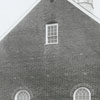 Renovation work being done on Bethania Moravian Church.