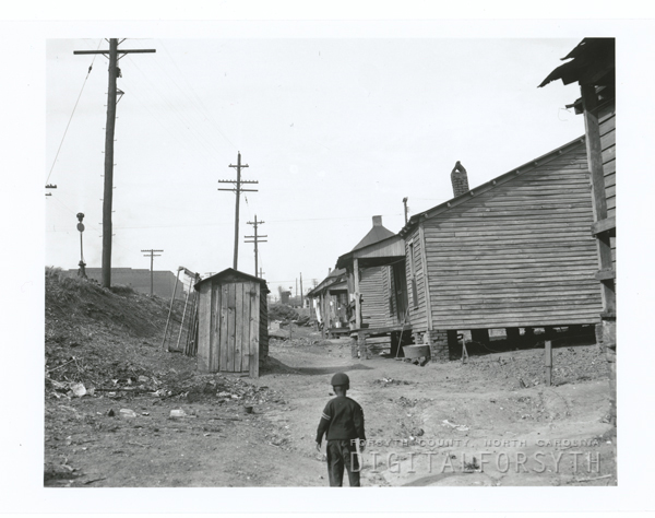 Slums in Winston-Salem, 1950.