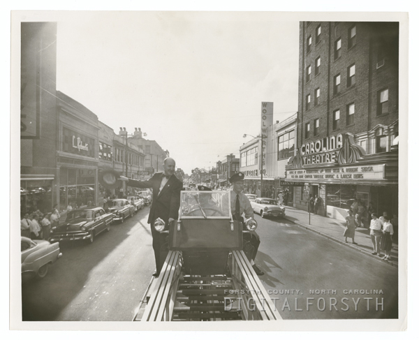 Fire Prevention Parade on West Fourth Street, 1955.