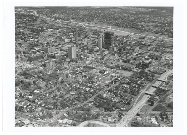 Downtown Winston-Salem aerial, 1965.