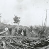 Collapse of Winston's water reservoir, 1904.
