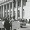 Protest/freedom march by Winston-Salem State College students, 1965.