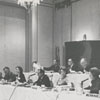 Dale Gramley speaking to jury at All-America City Awards competition, 1965.