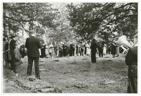 Easter Sunrise Service at Bethabara Moravian Church, 1938.