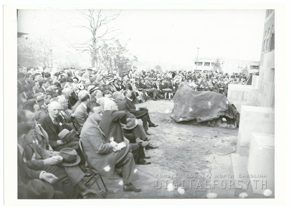 Cornerstone Laying Ceremony for the Bowman Gray School of Medicine, 1941.