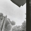 Fire at Taylor's Tobacco Warehouse on North Patterson Avenue, 1958.
