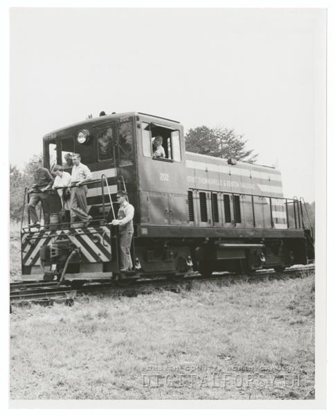 Train excursion to High Rock Lake, 1959.