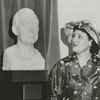 Unveiling of bust of Richard J. Reynolds Jr. by Dr. Harold Tribble, President of Wake Forest College, 1959.