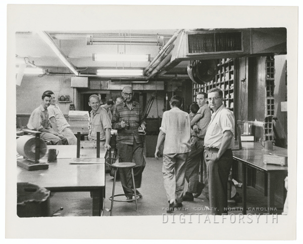 Pressroom at the Winston-Salem Journal, 1959.