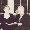 Carnegie librarians Mrs. Ruby Critz, Miss Janet Berkeley and Mrs. Jessie Stroupe, 1942.