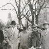 Groundbreaking for new Forsyth County Public Library on West Fifth Street, 1951. Mayor Marshall Kurfees with shovel.