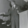 Forsyth County Public Library Dedication, 1953. Ralph P. Hanes at the podium.