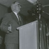 Forsyth County Public Library Dedication, 1953. Charles Rush, librarian at University of North Carolina, at the podium.