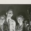 Paul Ballance, Elizabeth Plexico, Ed Lynch, and Dorothy Shue with film projector.