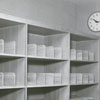 Forsyth County Public Library bookcase, 1953.