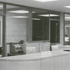 Forsyth County Public Library circulation desk, 1953.