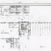 Forsyth County Public Library architectural drawing of the first floor, 1951.