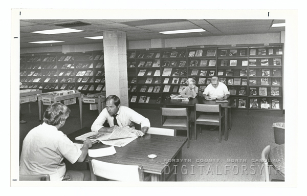 Periodicals Department in the Forsyth County Public Library.