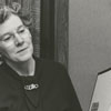 Jane Garrett and storyteller, Mrs. Glenn Craig, at East Winston Branch Library, 1958.