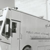 Placemobile parked behind the Forsyth County Public Library, 1973.