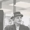 Mrs. Ruby Critz at opening of new library, 1953.