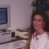 Joye Maier, the library's first Communication Specialist, 1994.