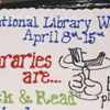 National Library Week cake, 2000.