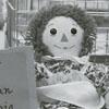 Peanut, the Peruvian guinea pig, in the library's children's department, 1981.