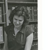 Janet Miller Rowland in the Periodicals Department, 1980.