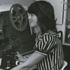 Library staff member in the Film & Video Department.