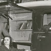 Carnegie librarians with new bookmobile, 1949.