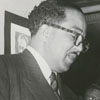 Langston Hughes at the George Moses Horton Branch Library.