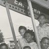Children from East Winston Branch Library visit Smith Reynolds Airport, 1956.