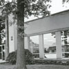 Front exterior of the Forsyth County Public Library, 1968.