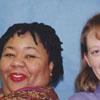 Librarians Rhonda Scales and Jenny Barrett.