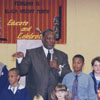 Children's program, probably for Black History Month, in the library's auditorium.