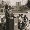 Groundbreaking for Walkertown Branch Library, 1991.