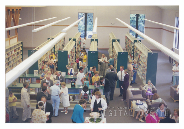 Dedication of the new Reynolda Manor Branch Library, 1998.