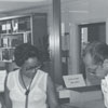 East Winston Branch Library at the circulation desk.